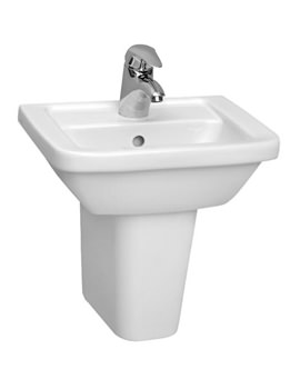 Form 300 45cm Cloakroom Washbasin With Semi Pedestal