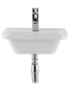 Related Balterley Edge 45cm Square 1 Tap Hole Cloakroom Basin - BYWHED201