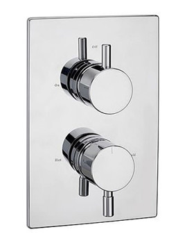 Tre Mercati Milan Thermostatic Concealed Shower Valve Chrome - 63220