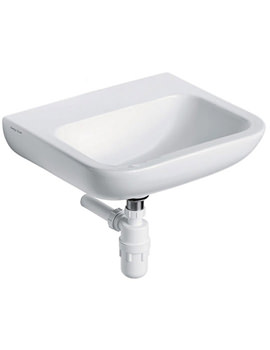 Portman 21 Wall Hung Basin 40 x 37cm With No Tap Holes