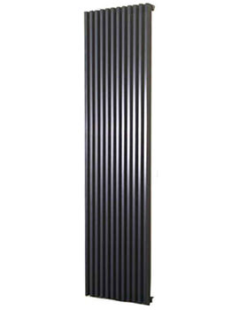 Bassano Vertical Double 465 x 1800mm Designer Radiator White