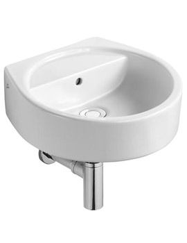 White Round Handrinse Basin 400mm Wide - E011901