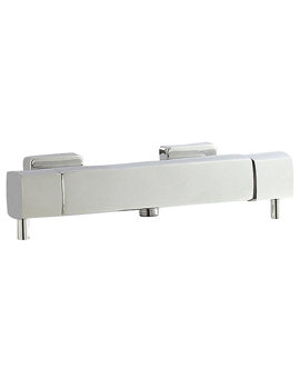 Hudson Reed Quadro Thermostatic Bar Shower Valve Bottom Outlet - A3503