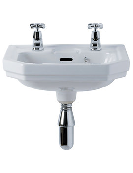 Plaza 450mm 2 Taphole Handrinse Basin - E381001