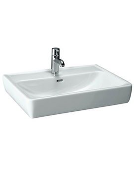 Laufen Pro A 550 x 480mm No Tap Hole Basin With Ground Base