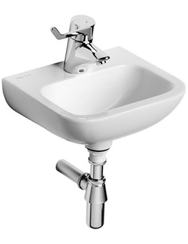 Contour 21 Handrinse Washbasin 370mm Centre Tap Hole