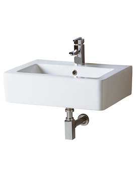 Qube Basin With Square Bottle Trap 600mm Wide - QU004 - WA011