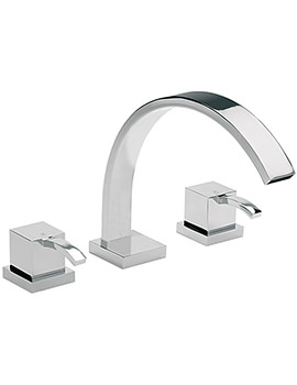 Arke 3 Hole Deck Mounted Bath Filler Tap