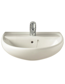 Sola 1 Tap Hole Washbasin 600 x 460mm - SA4311WH
