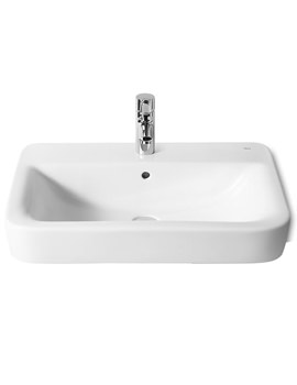 Roca Senso Square 1 Tap Hole Basin 650 x 475mm - 32751A000