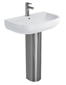 Related Britton Compact 650mm Basin With Stainless Steel Pedestal