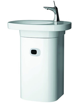 Mimo Vanity Unit With Left Hinged Door 380 x 650mm White