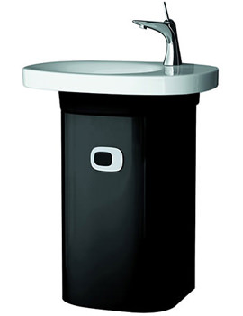 Mimo Vanity Unit With Left Hinged Door 380 x 650mm Black