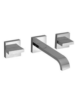 Geo Wall Mounted 3 Hole Basin Mixer Tap With 220mm Spout