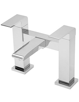 Rubik Pillar Mounted Bath Filler Tap Chrome - 41040