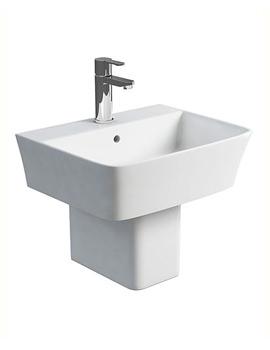 Related Britton Fine S40 500mm Washbasin With Square Semi Pedestal
