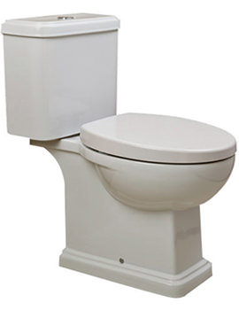 Decor Close Coupled WC With Soft Close Toilet Seat 660mm