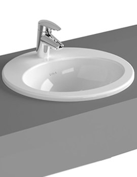 VitrA S20 Commercial 53cm Countertop Basin Oval - 5468