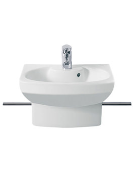 Senso Compact Cloakroom Basin With Semi-Pedestal - 327514000