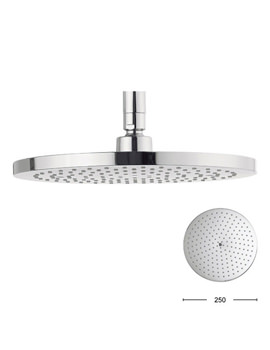 Central 250mm Brass Round Shower Head