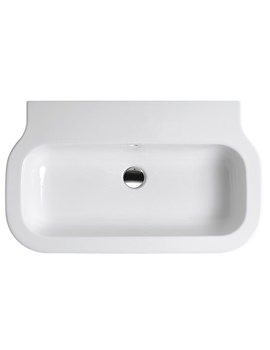 Related Azzurra Glaze Gloss White 600 x 460mm Wall Hung Or Pedestal Basin