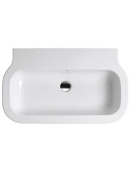 Glaze Gloss White No TH Wall Hung Basin 750 x 460mm