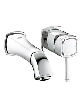 Grandera Wall Mounted 2 Hole Basin Mixer Tap - 19929000