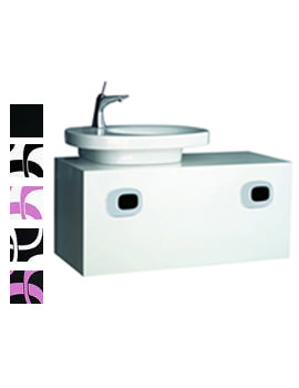 Mimo 1000mm Vanity Unit For Left Hand Basin - White