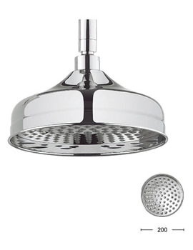 Belgravia Chrome Fixed Shower Head 200mm - FH08C