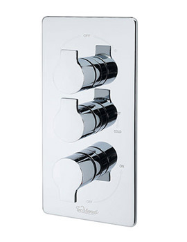 Angle Concealed Thermostatic 3 Way Diverter Valve - 22193