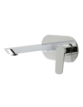 Photon Wall Mounted 2 Hole Basin Mixer Tap - PHO-109S