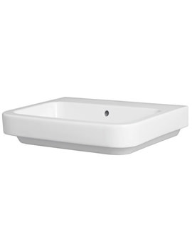 Tulip Wall Hung Or Sit On Basin 600 x 450mm - 0 Tap Hole