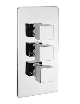 Edge Concealed Thermostatic 3 Way Diverter Valve - 83053