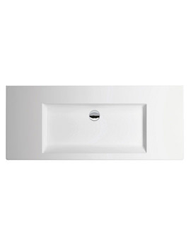 Thin 1100 x 500mm No Taphole Wall Hung Basin Matt White