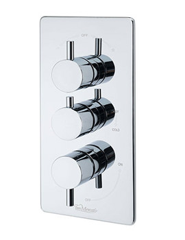 Bella Concealed Thermostatic 3 Way Diverter Valve - 82073