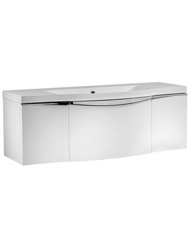 Serif 1200mm Gloss White 3 Drawer Wall Hung Unit With Basin