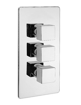 Geysir Concealed Thermostatic Valve With 3 Way Diverter