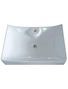 Pamela Rectangle Counter Top Basin 670mm - BBD Pamela Rectangle
