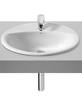 Java White In Countertop Basin 560mm x 475mm - 327863000