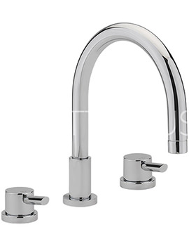 Related Sagittarius Rocco 3 Hole Deck Mounted Bath Filler Tap - RO-111-C