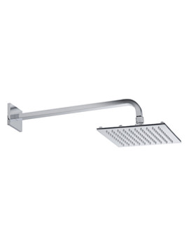 Square Fixed Arm With Square 200mm Shower Head