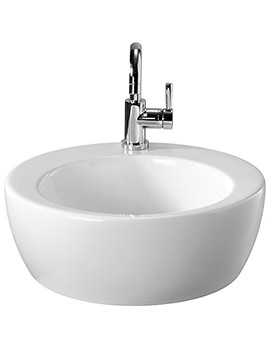 Visit 1 Tap Hole Lay On Round Basin 450 x 450mm -GT4711WH