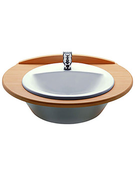 Rodeo White In Countertop Basin 520mm Wide - 327866000