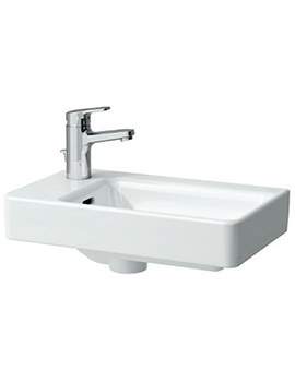 Pro A 480mm Small Countertop Basin Asymmetric Left 0 Tap Hole