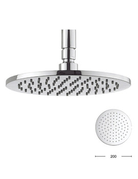 Contour 200mm Round Shower Head - FH614C+