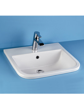 RAK Series 600 1 Tap Hole Inset Vanity Basin 500mm - S600VB1 - Image