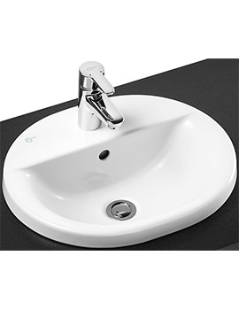 Concept Oval 480mm 1 Taphole Countertop Basin