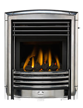 Valor Petrus Homeflame Slide Control Inset Gas Fire Silver-Chrome