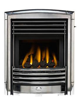 Valor Petrus Homeflame Slide Control Inset Gas Fire Silver-Chrome