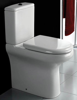 Rimless Compact Deluxe Close Coupled Fully Back To Wall WC Pak 625mm